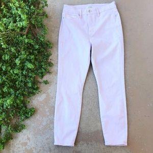 Good American Lavender Good Legs Crop Skinny Jeans